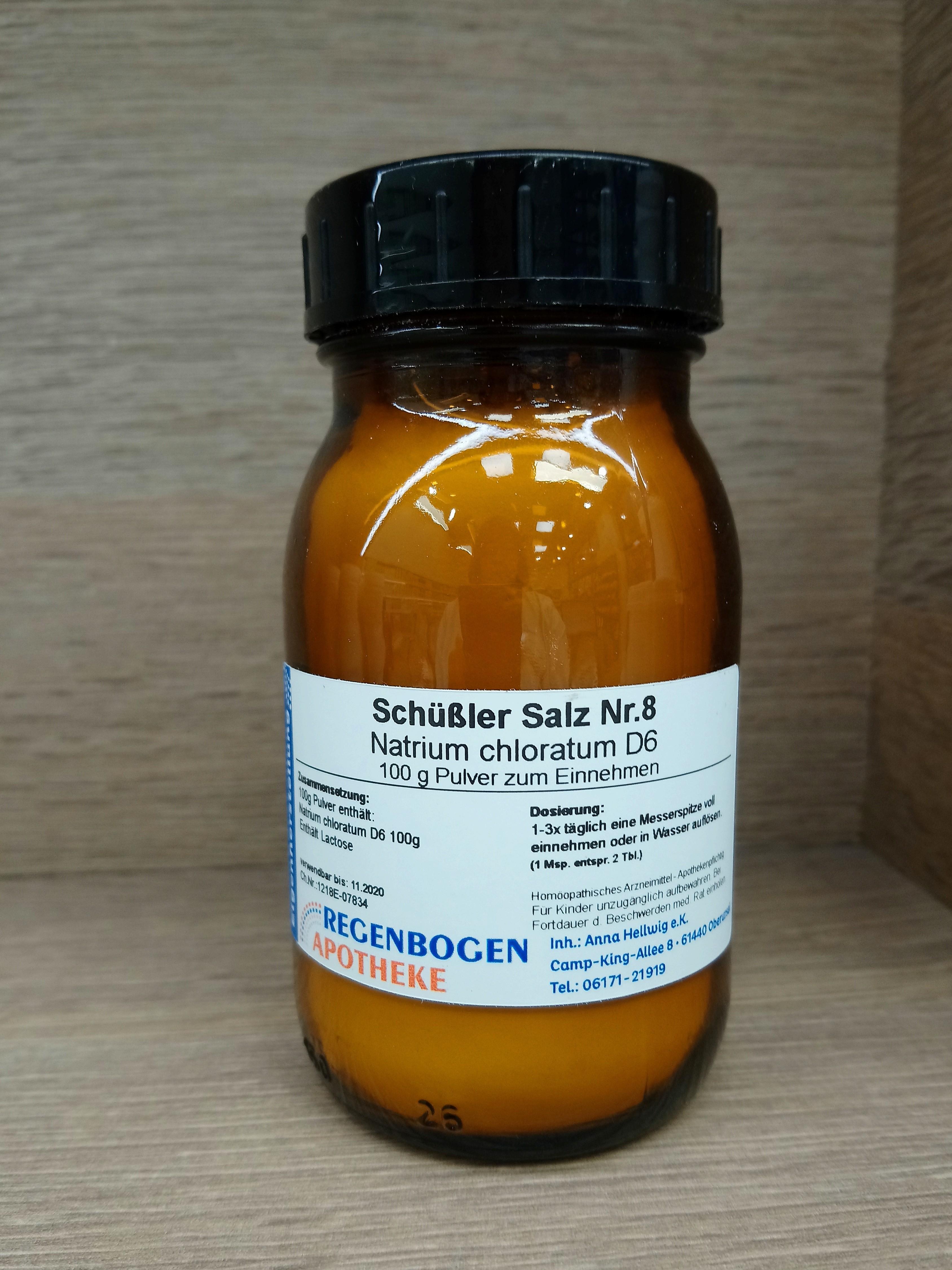 Schüßler Salz Nr. 8 Natrium chloratum D6 100g Pulver